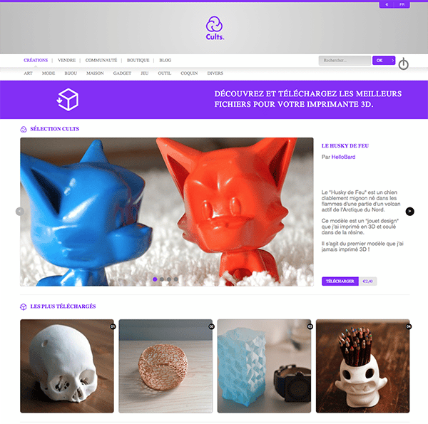 Cults 3D Marketplace