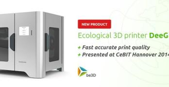 Be3D DeeGreen : nouvelle imprimante 3D annoncée comme écologique