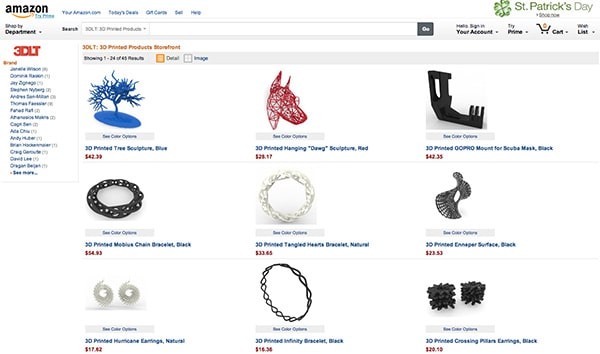 plateforme impression 3d amazon 3DLT