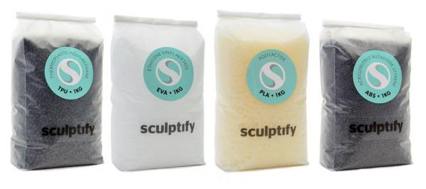 Pastille de plastique pour imprimante sculptify