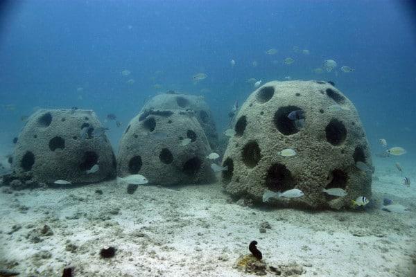 Boule imprimée en 3D au fond de l'océan
