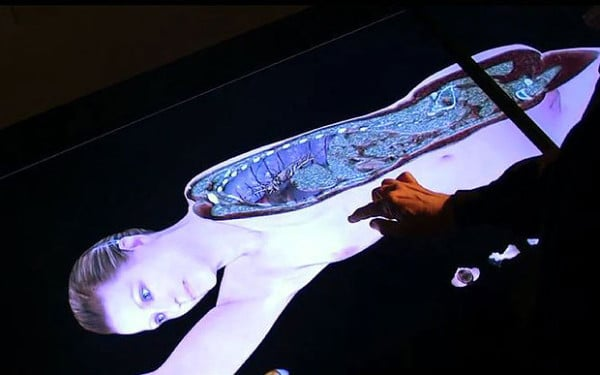 Scan 3D d'un corps humain