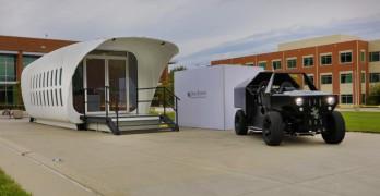 Le projet Amie composé d'une maison et voiture écologique