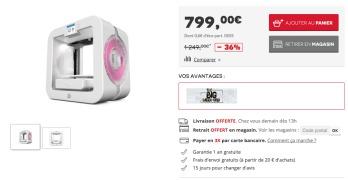 [Black Friday] L'imprimante 3D SYSTEM CUBE3 BLANC à 799€ au lieu de 1050€ ailleurs